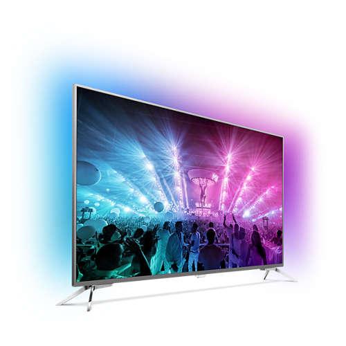 تلویزیون فیلیپس 4kسایز 65 اینچ